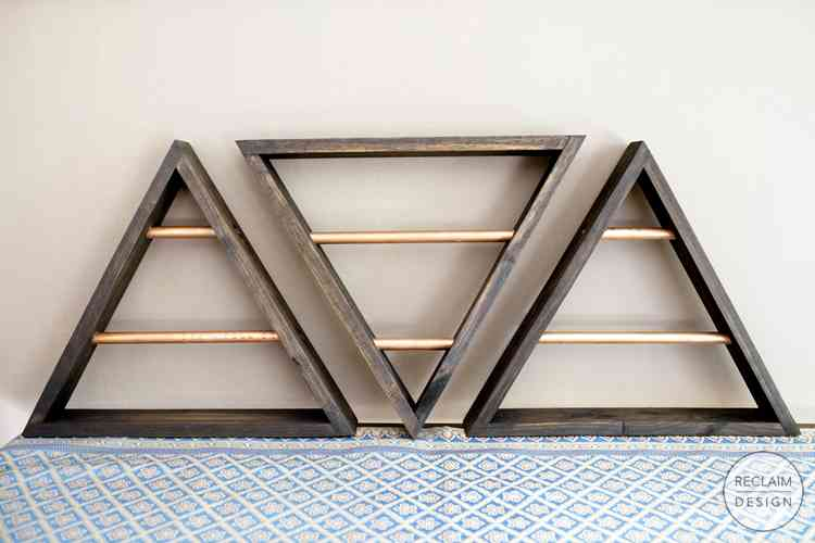 Triangular Wall Mounted Jewellery Display made from Reclaimed Wood | Reclaim Design