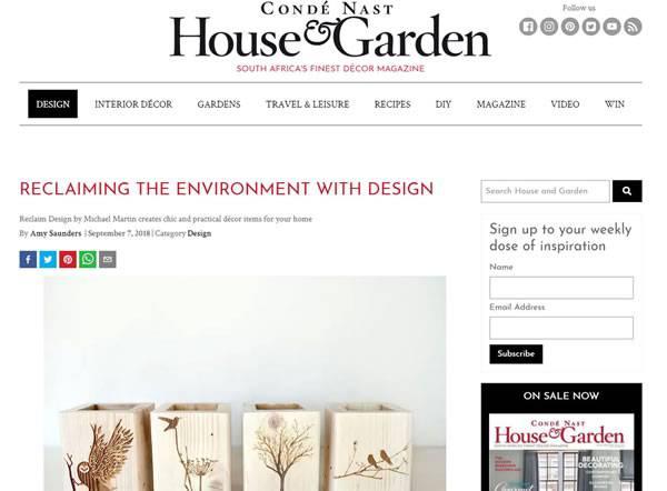 Conde Nast Feature | Reclaim Design