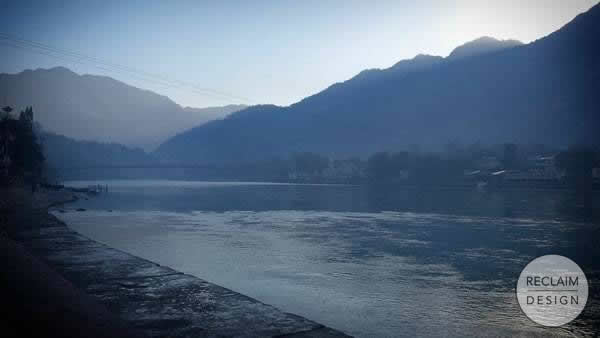 Early morning on the Ganges River in Rishikesh India | Reclaim Design