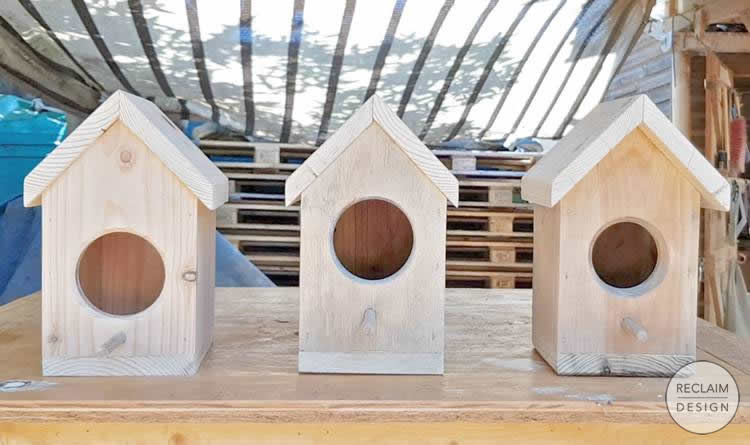 Sustainable bird box made from reclaimed wood   Reclaim Design