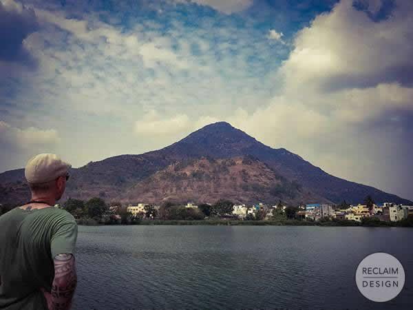 Michael looking at Mount Arunachala Tiruvannamalai India | Reclaim Design
