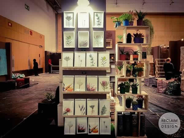 Reclaim Design Sustainable Home Decor Stand at Homemakers Expo | Reclaim Design