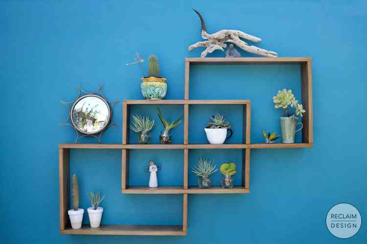 Geometric Shelving made from Reclaimed Wood | Reclaim Design
