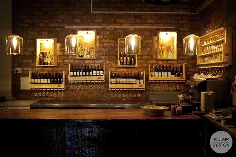 Light Boxes, Wine Racks and Bar Shelving made from Reclaimed Wood | Reclaim Design