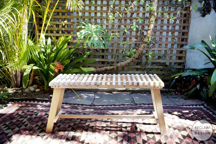 Slatted Bench made from Reclaimed Wood | Reclaim Design