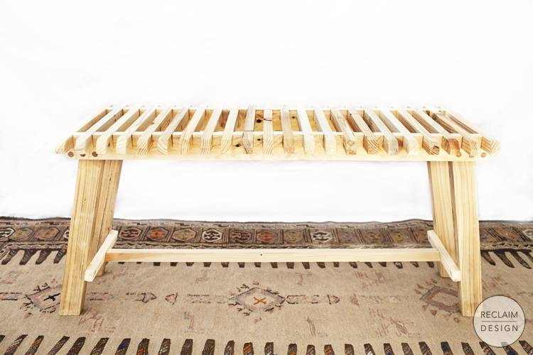 Sustainable bench made from reclaimed wood | Reclaim Design