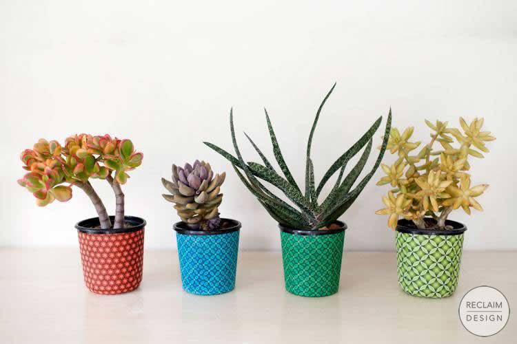Recycled Plastic Fabric Pots | Reclaim Design