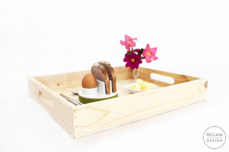 Sustainable serving tray made from reclaimed wood | Reclaim Design