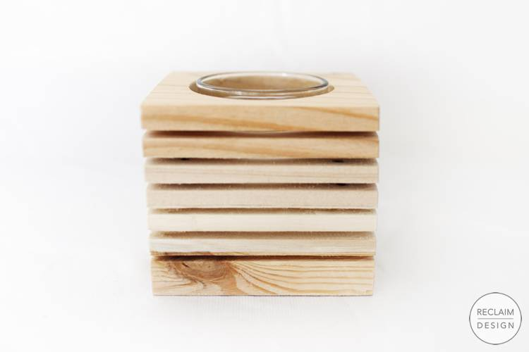 Sustainable candle displays made from reclaimed wood | Reclaim Design