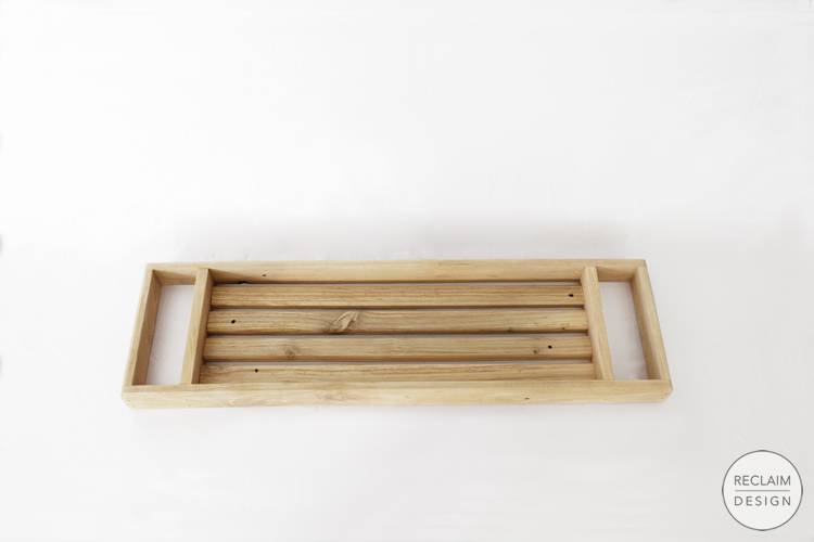 Sustainable Bath Caddy Made From Reclaimed Wood | Reclaim Design