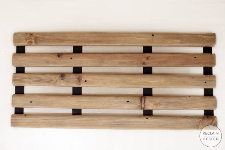 Sustainable Reclaimed Wood Folding Bath Mat   Reclaim Design