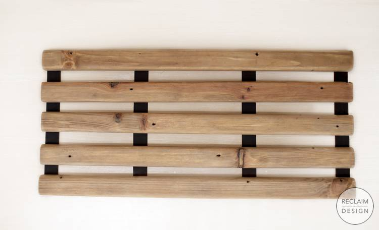 Sustainable Reclaimed Wood Folding Bath Mat | Reclaim Design
