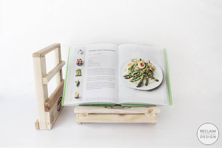 Sustainable Recipe Book Stand Made From Reclaimed Wood | Reclaim Design