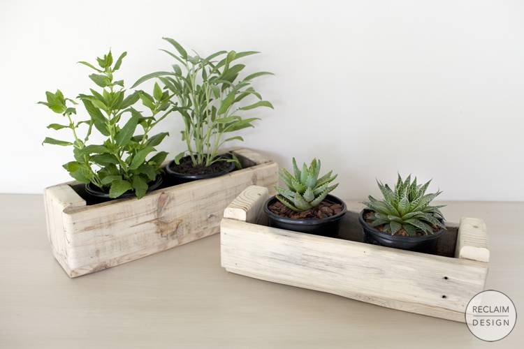 Sustainable planters made from reclaimed wood | Reclaim Design