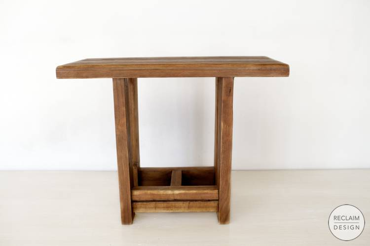 Sustainable reclaimed wood seat made from reclaimed wood | Reclaim Design