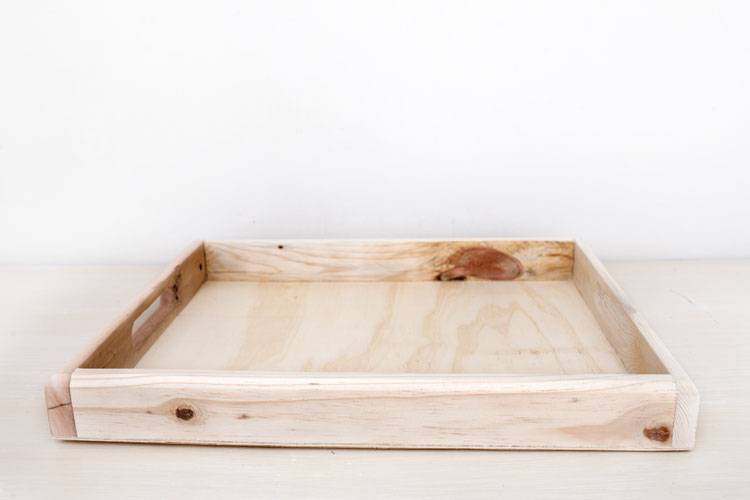 Sustainable serving tray made from reclaimed wood   Reclaim Design