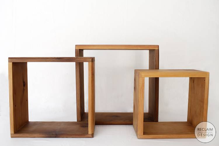 Environmentally Responsible Home Decor - Reclaimed Wood Shadow Box Set | Reclaim Design