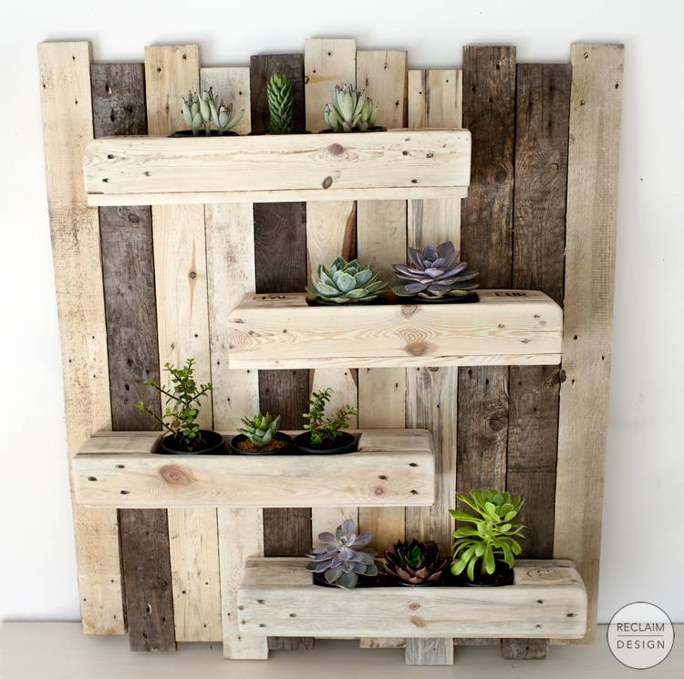 Reclaimed Wood Vertical Garden | Reclaim Design