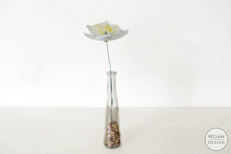 Sustainable decorative flower made from recycled plastic | Reclaim Design