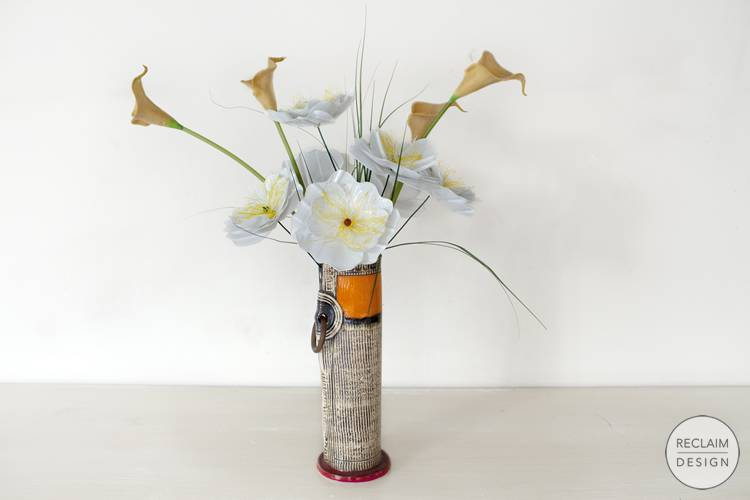 Sustainable decorative flowers made from recycled plastic | Reclaim Design