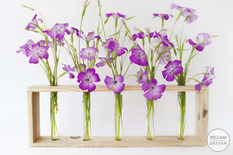 Sustainable Vases With Reclaimed Wood Stands | Reclaim Design